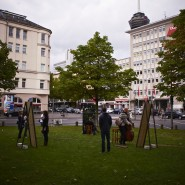 "Kathrin Sohlbach, ""in other spaces"", CityLeaks 2013, Interacting Day, Hans-Böckler-Platz, Photo: Silviu Guiman"
