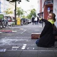 Künstlerkollektiv.Innen, CityLeaks 2013, Interacting Day, Neusser Straße, Photo: Silviu Guiman